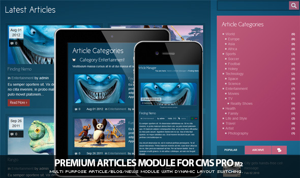 Article Manager Module for CMS pro! - CodeCanyon Item for Sale