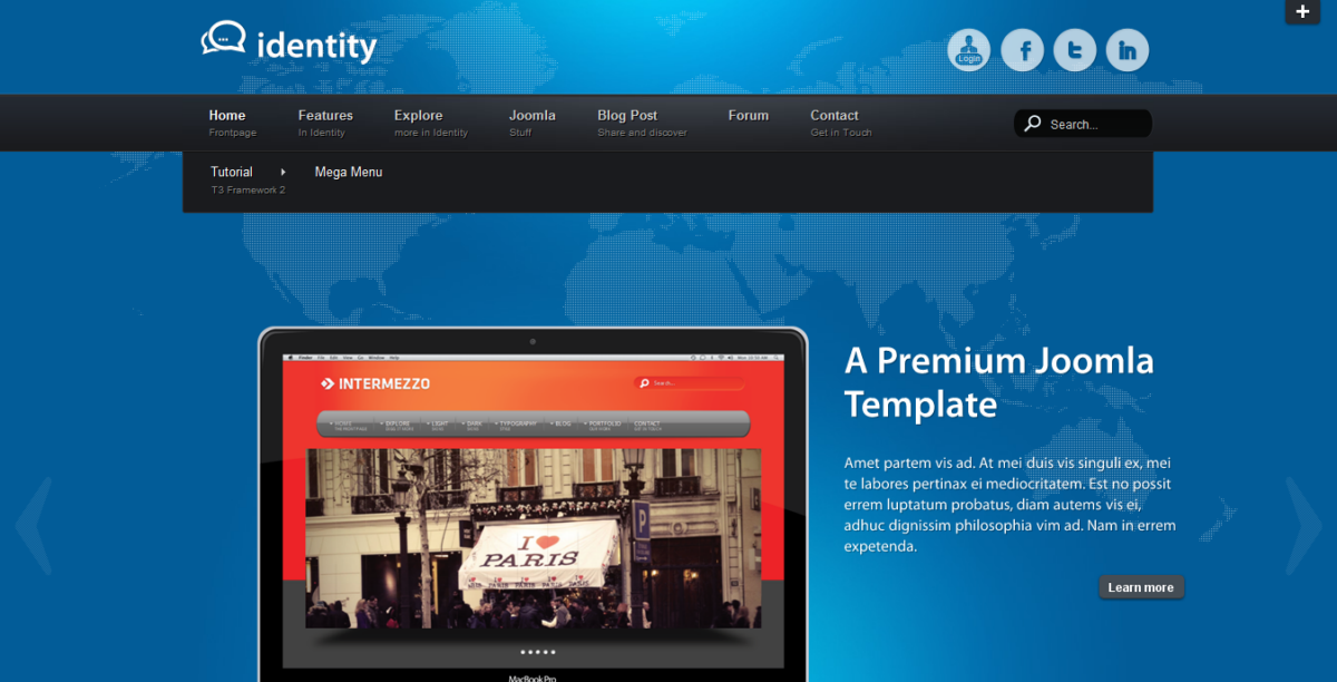 Identity - Premium Joomla Template