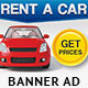 Car Rentals Banner Ad-Graphicriver中文最全的素材分享平台