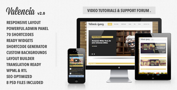 Valencia | Responsive WordPress Theme