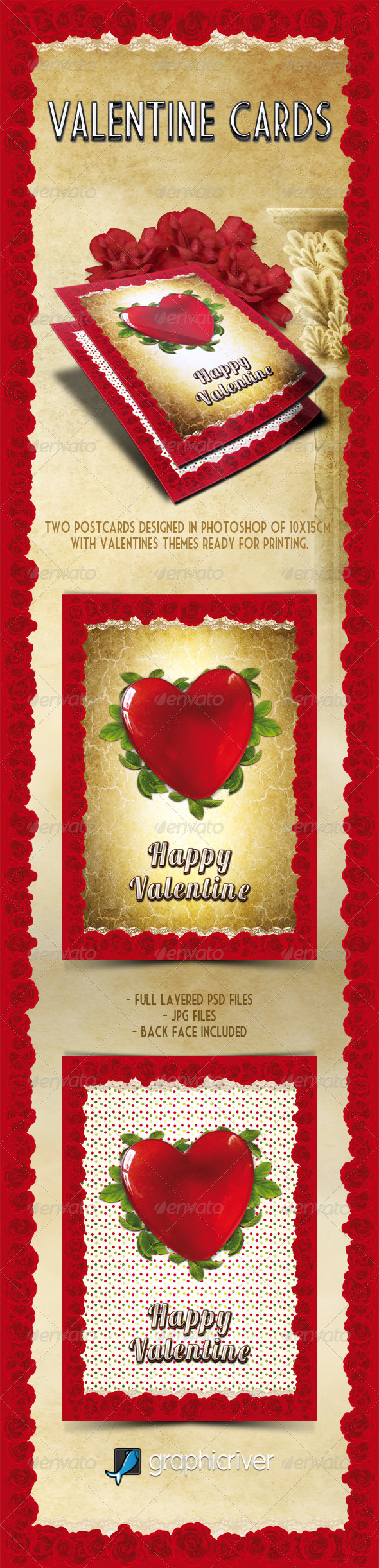 GraphicRiver Valentines Cards 3717475