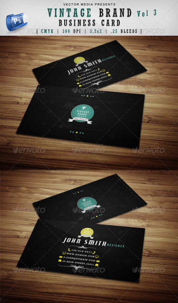 GraphicRiver Vintage Brand Business Card [Vol 3] 3801430