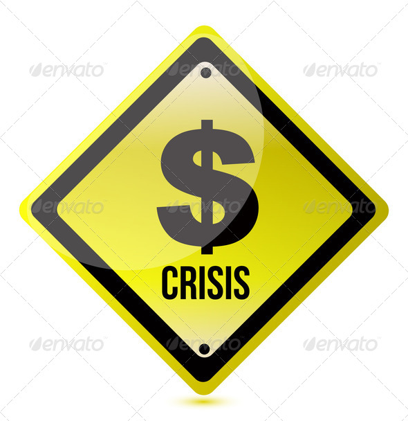 PhotoDune yellow dollar crisis sign illustration design on white 3814748