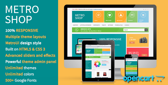 ThemeForest MetroShop Premium OpenCart theme 3803501