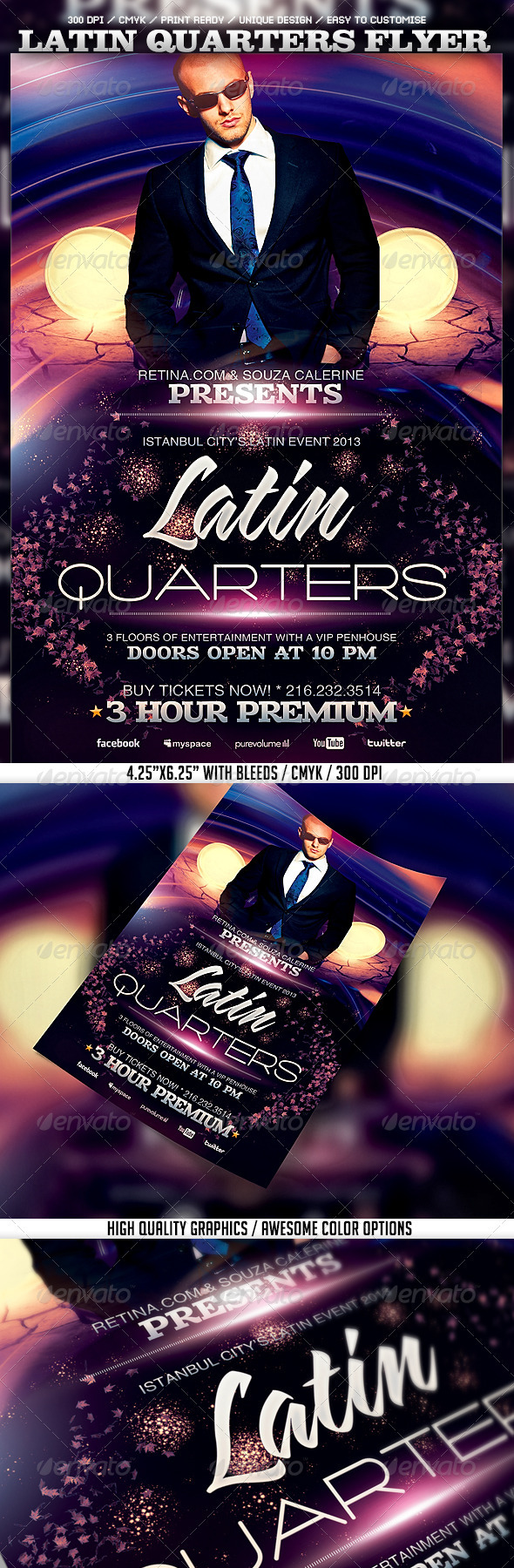 GraphicRiver Latin Quarters Flyer Template 3803920