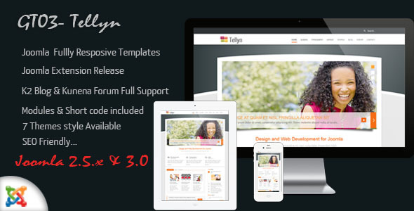 GT03 - Multipurpose Joomla Responsive Templates - ThemeForest Item for Sale