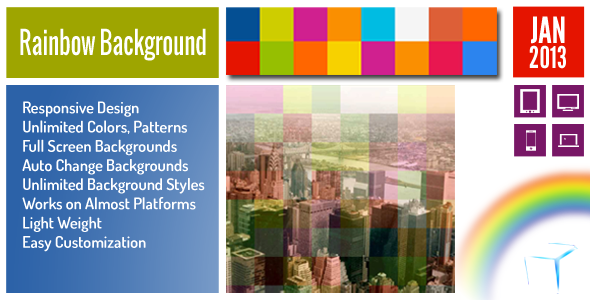 Rainbow Background jQuery Plugin - CodeCanyon Item for Sale