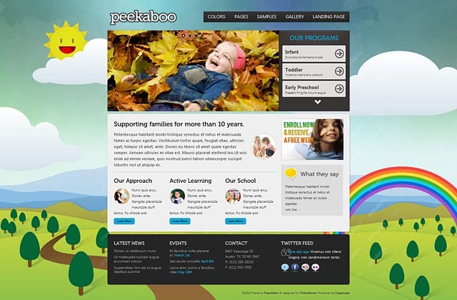 Pekaboo for WordPress - Children Theme Template - Home page - style 4