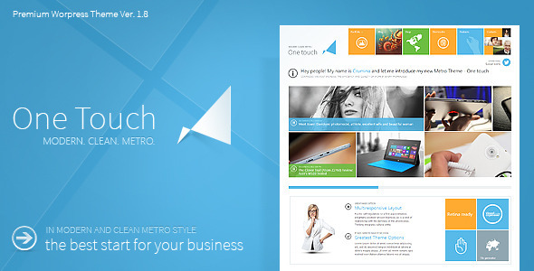 One Touch - Multifunctional Metro Stylish Theme - Corporate WordPress