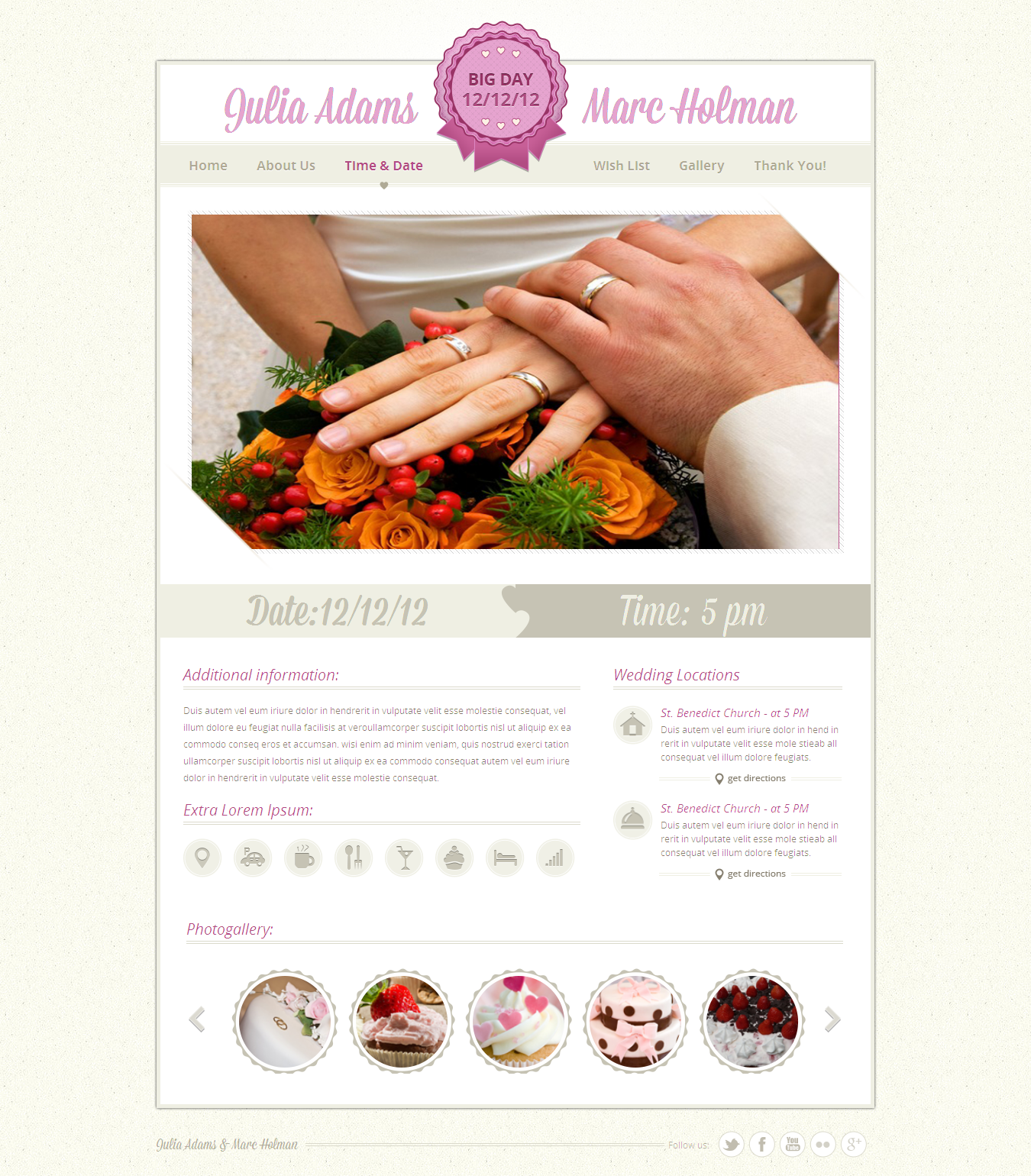 Justwedding - Wedding site template