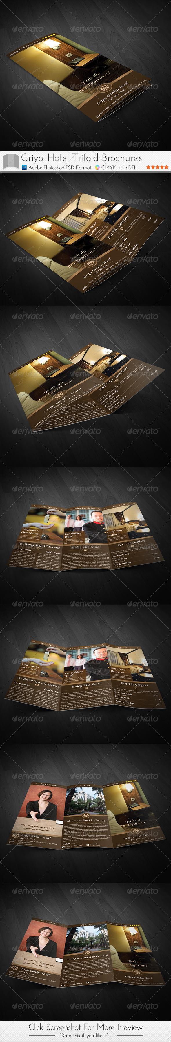 GraphicRiver Griya Hotel Trifold Brochure 3805931