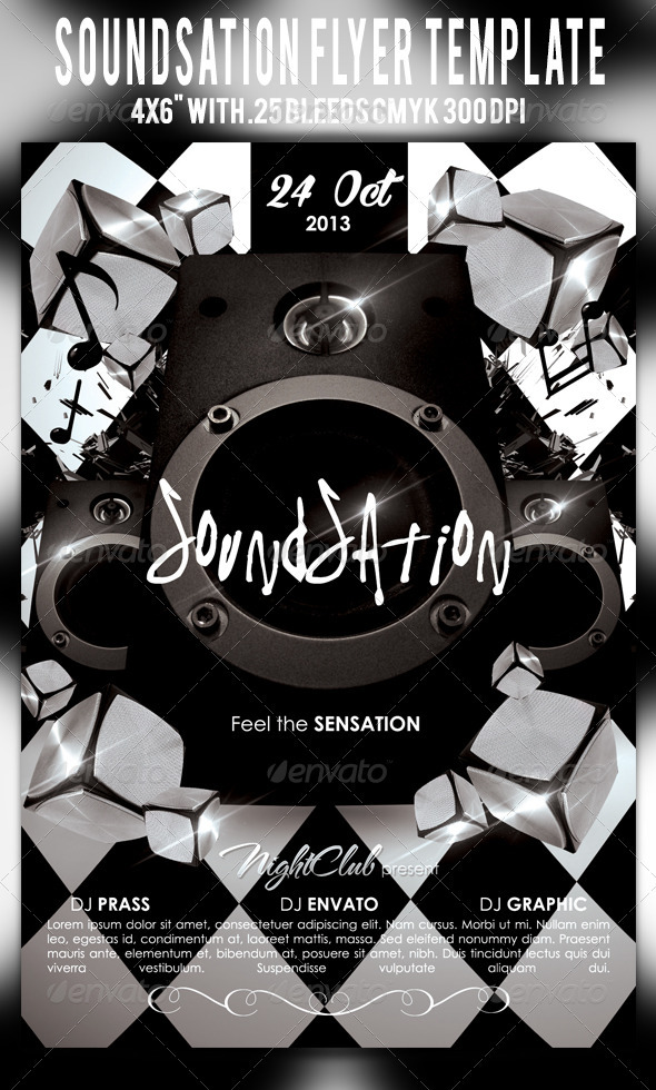 Soundsation Flyer Template - Clubs & Parties Events