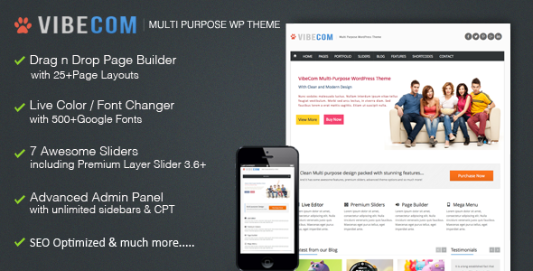 VibeCom Responsive Muti-Purpose WordPress Theme