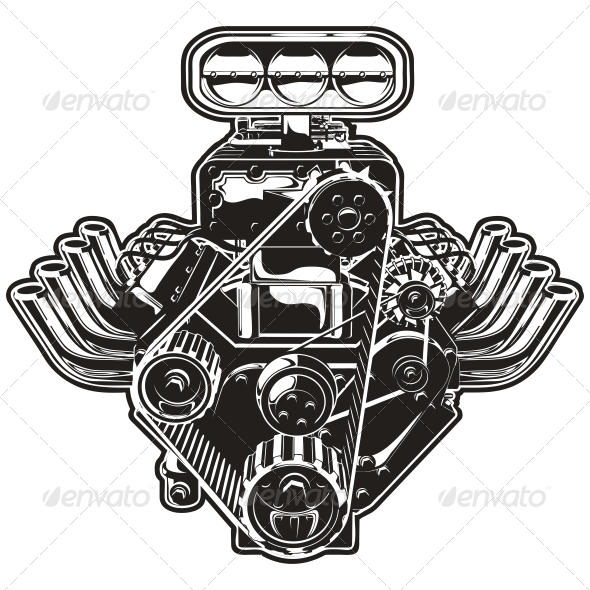 GraphicRiver Vector Cartoon Turbo Engine 3806049