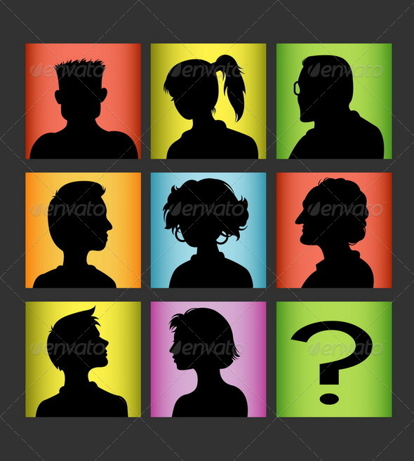 GraphicRiver Avatar Silhouette Set 3806213
