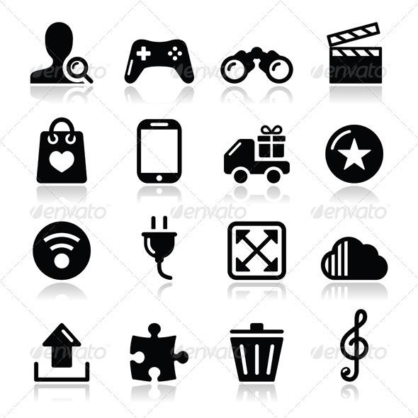 GraphicRiver Web Internet Icons Set Vector 3806546
