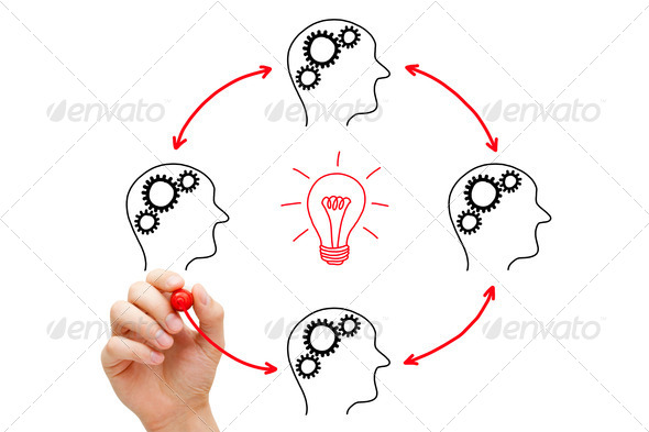 Teamwork Builds Big Idea - Stock Photo - Images