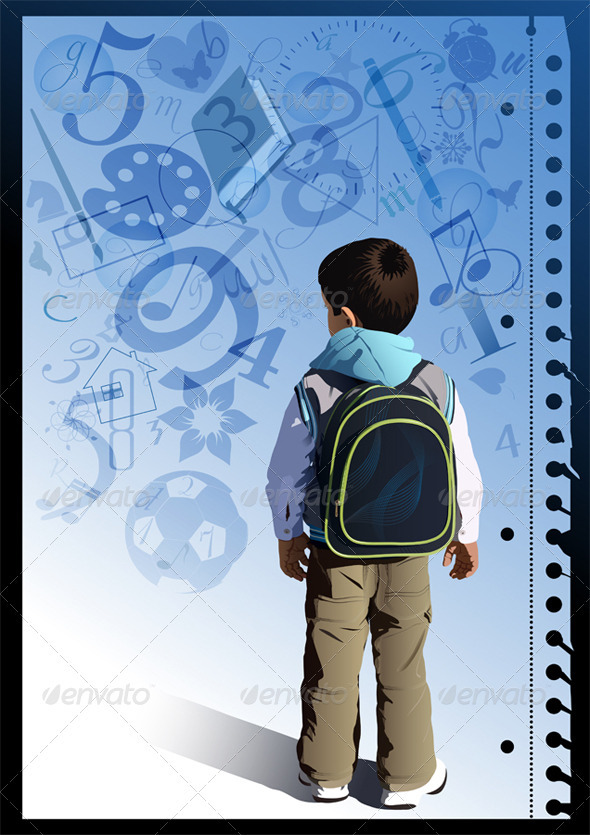 GraphicRiver Little Schoolboy 3807168