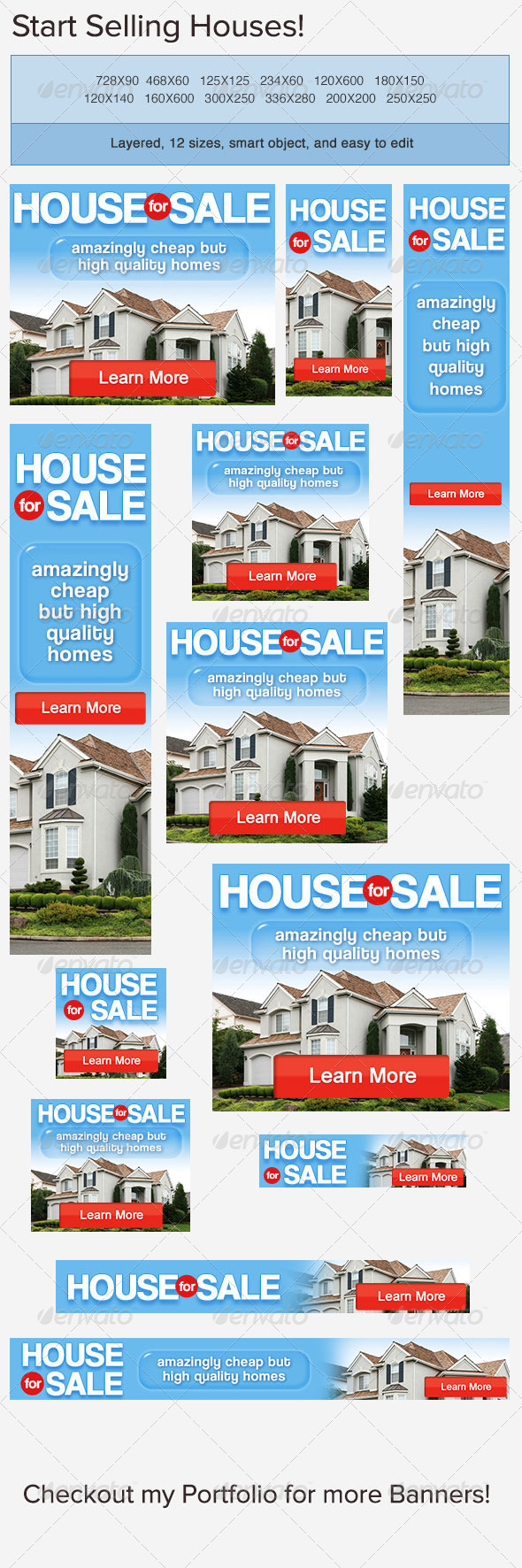 House for Sale Banner Ad PSD Template - Banners & Ads Web Elements