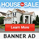 House for Sale Banner Ad PS-Graphicriver中文最全的素材分享平台