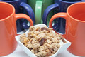 cereals with  colored mugs - PhotoDune Item for Sale