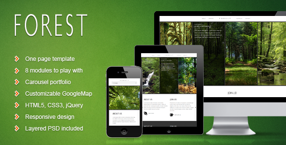 Forest - One Page Responsive Template