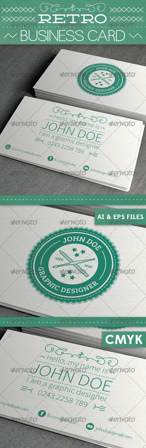 GraphicRiver Retro Business Card 3808539