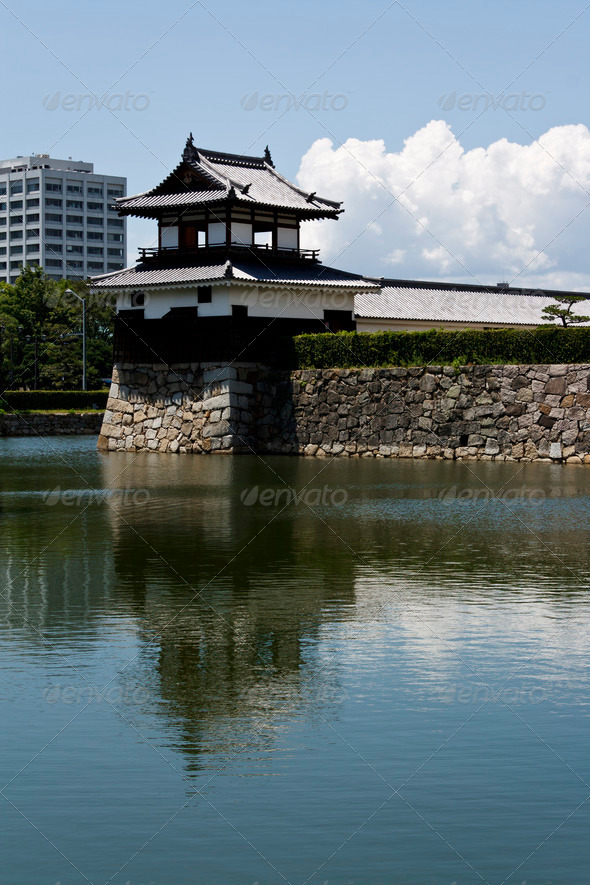 Hiroshima Japanese Castle - Stock Photo - Images