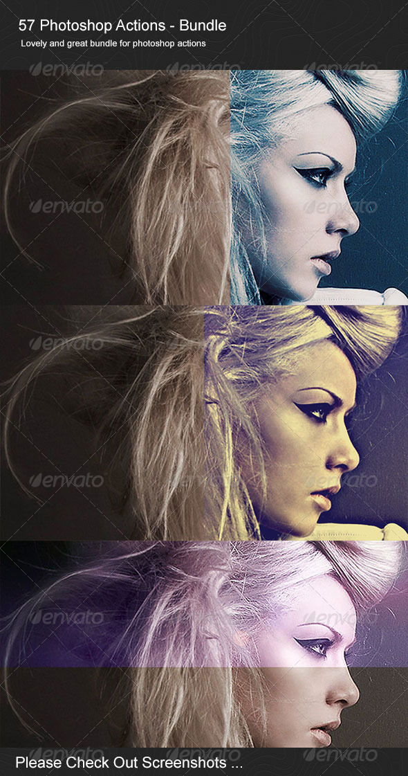 57 Photoshop Actions [Bundle] - Photo Effects Actions