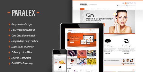 ThemeForest Paralex Multi-Purpose Responsive WP Theme 3784634