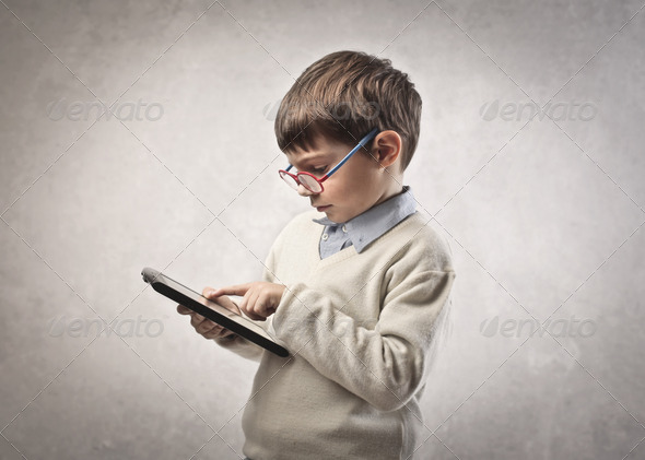 Child Tablet - Stock Photo - Images