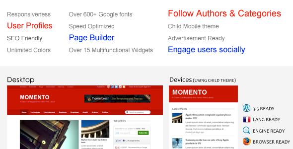 ThemeForest Momento News Magazine Blog wordpress theme 3034530