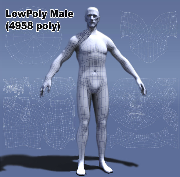 3DOcean Low Poly Male Human 410591