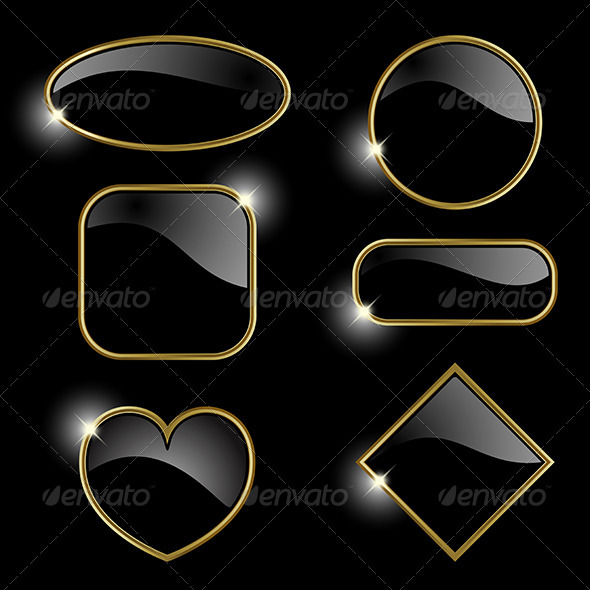 GraphicRiver Set from golden frames 3813698
