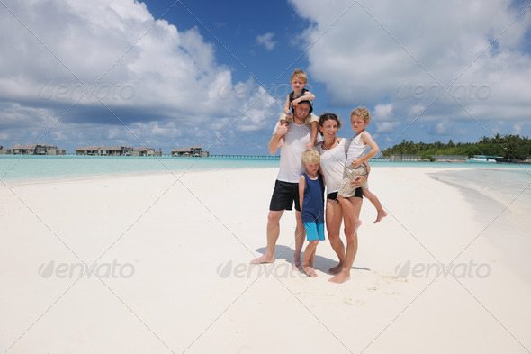 happy family on vacation - Stock Photo - Images