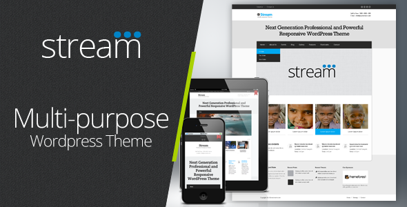 ThemeForest Stream Responsive Multi-Purpose Wordpress Theme 3813897