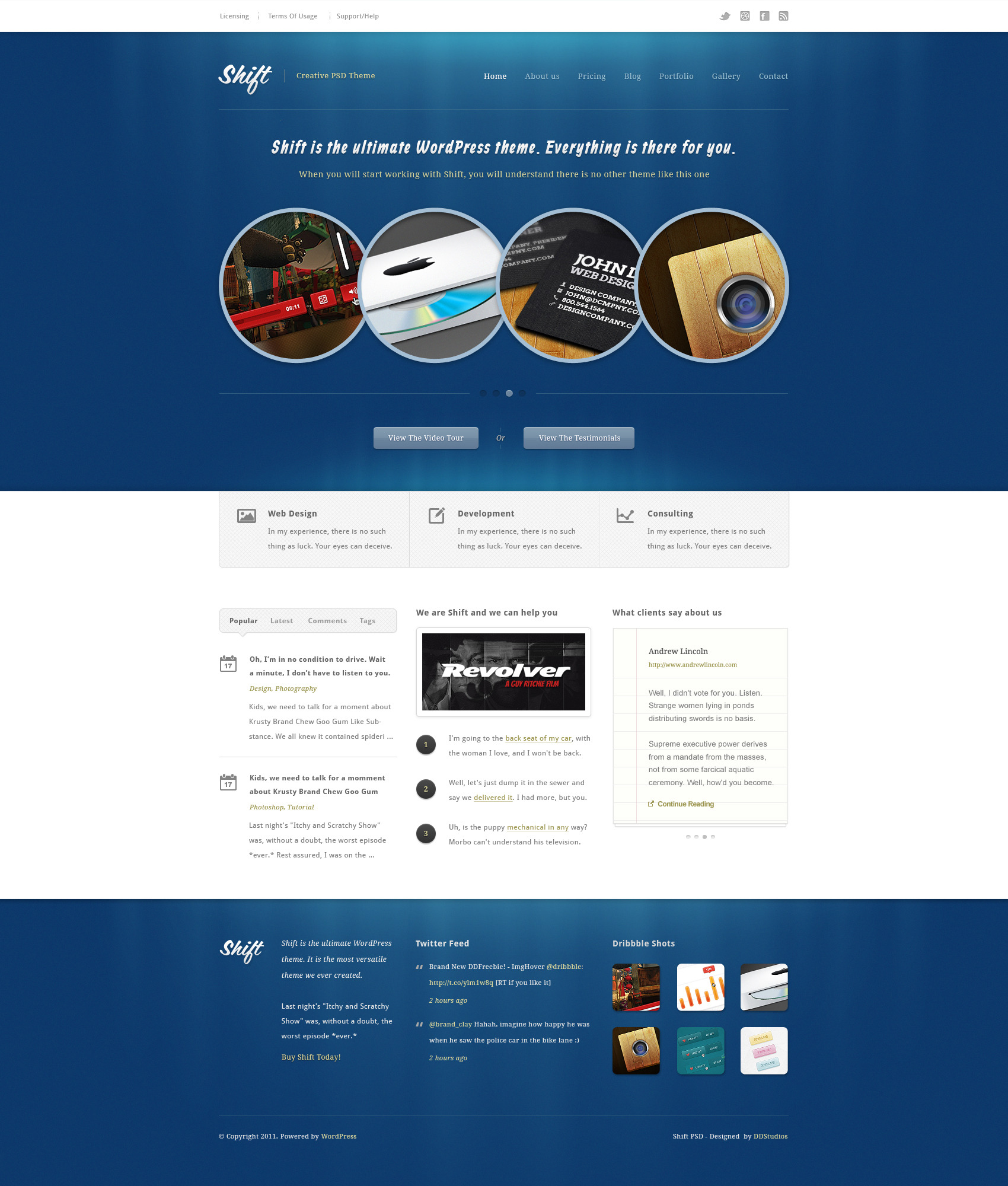 Shift - PSD Theme