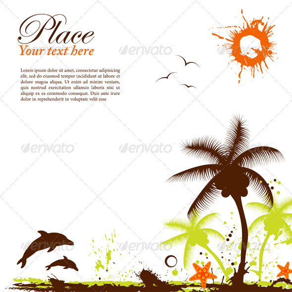 Summer design GraphicRiver - Vectors -  Conceptual  Nature  Seasons 410822