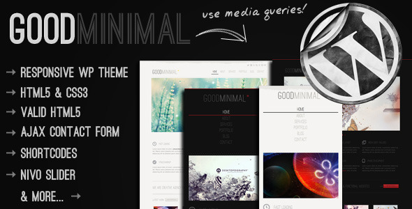 10 Best Responsive Wordpress Themes - Good Minimal Theme