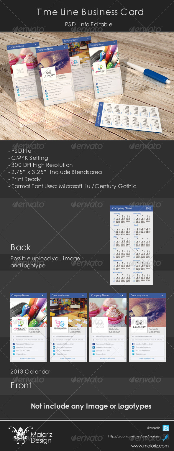 GraphicRiver Time Line Business Card 3817297