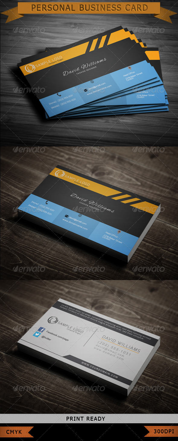 GraphicRiver Fashion Business Card 3709119