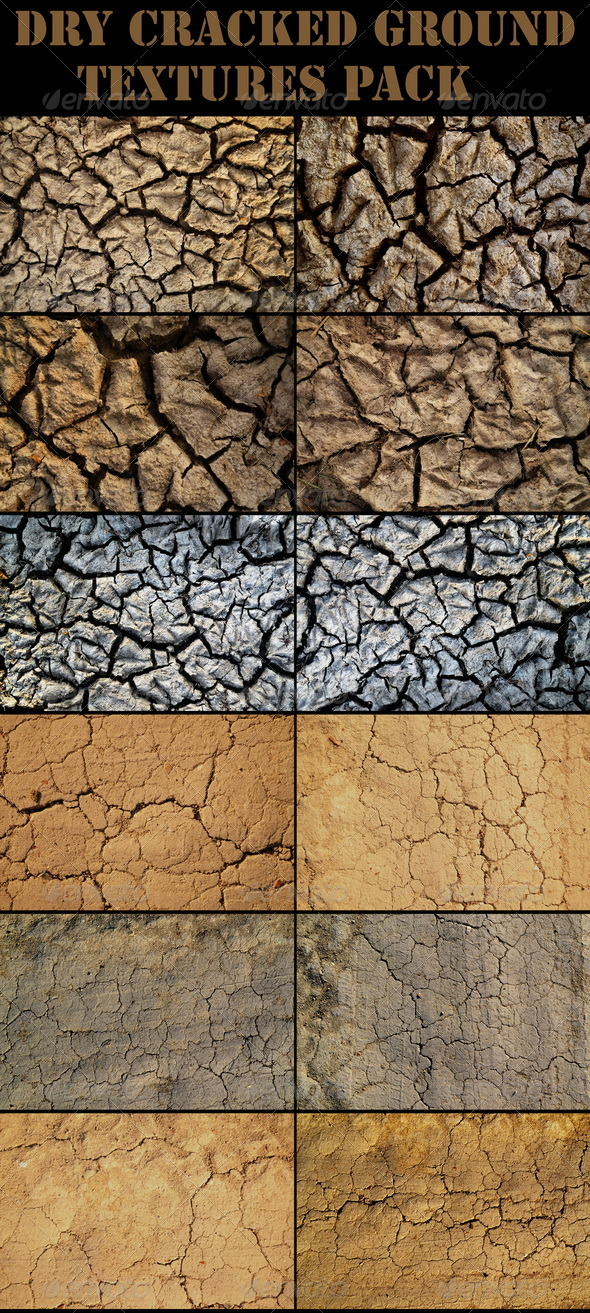 Dry Cracked Ground - Nature Textures