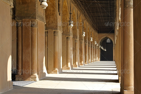 Arcaded corridors - Stock Photo - Images