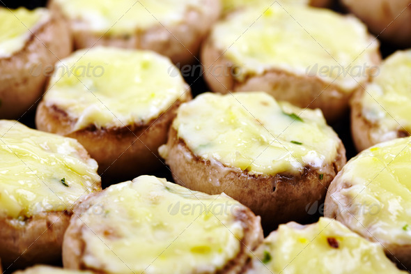 Stuffed mushrooms - Stock Photo - Images