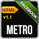 Metro Facebook Timeline HTML Template - ThemeForest Item for Sale