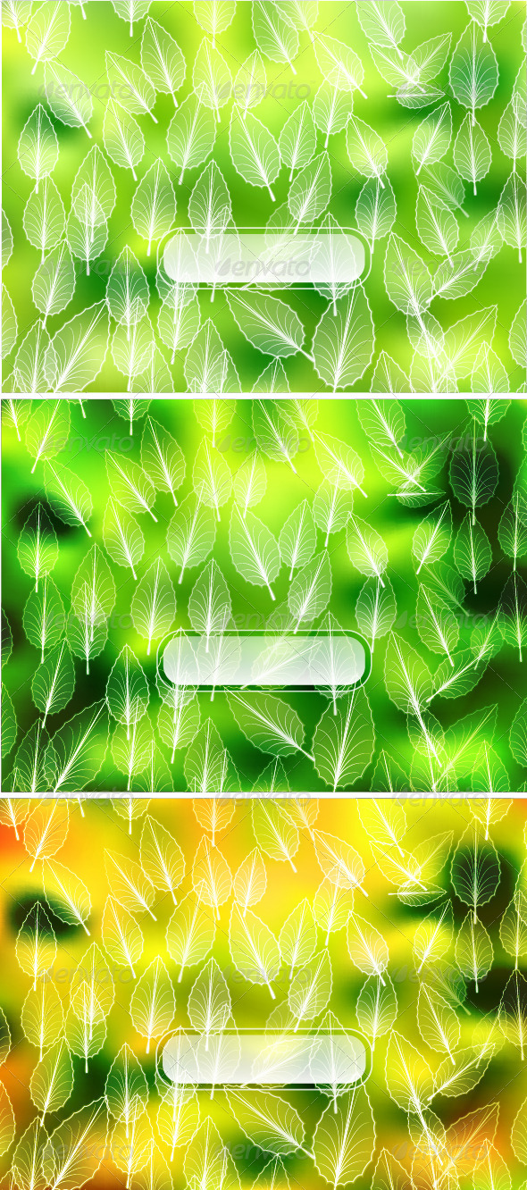 GraphicRiver Vector Leaves Backgrounds 3821356