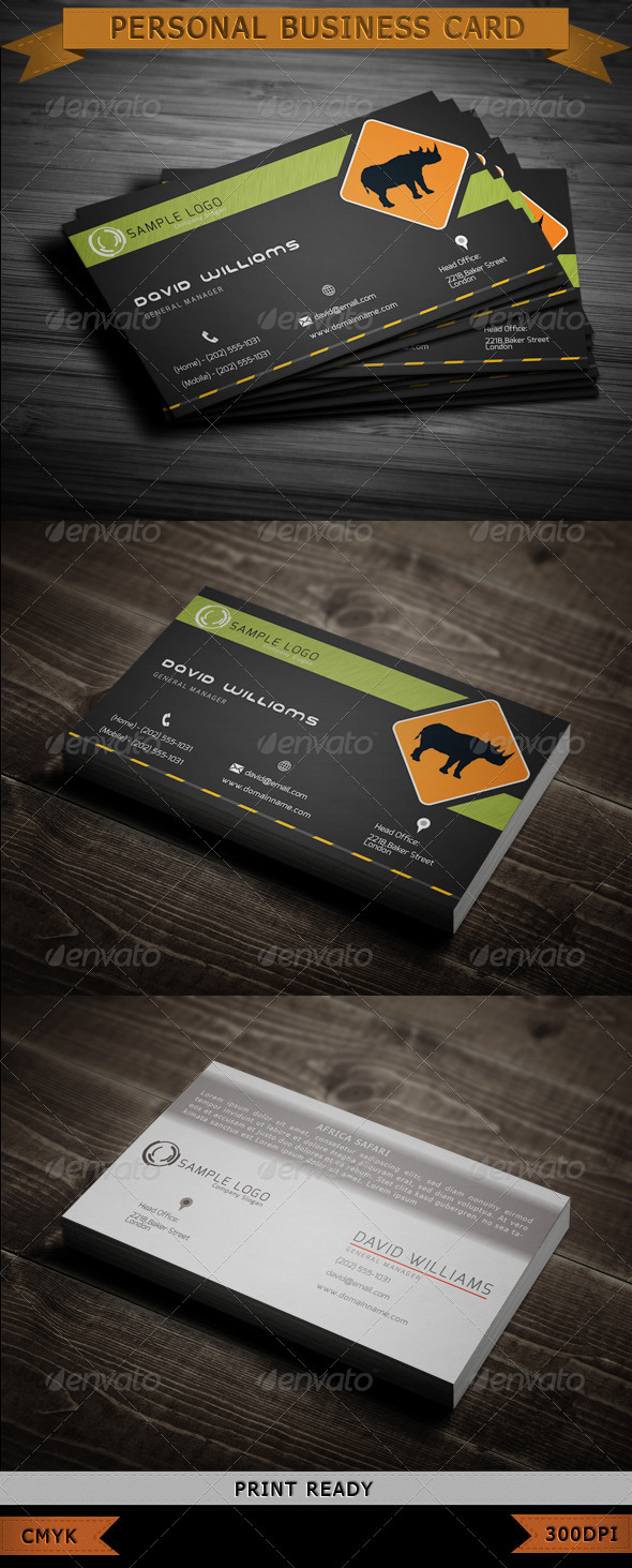 GraphicRiver Adventure Travel Business Card 3732119