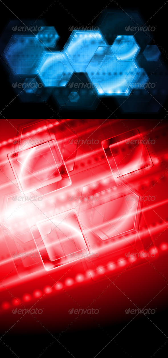 GraphicRiver Elegant hi-tech vector backgrounds 3821696