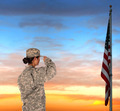 Female Soldier Saluting Flag - PhotoDune Item for Sale