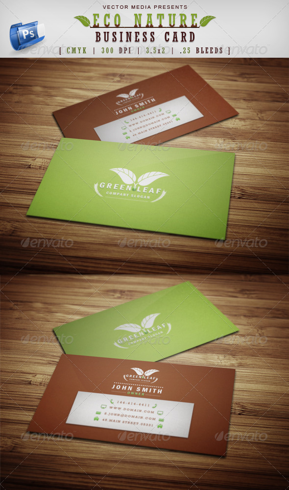 GraphicRiver Eco Nature Business Card 3821770